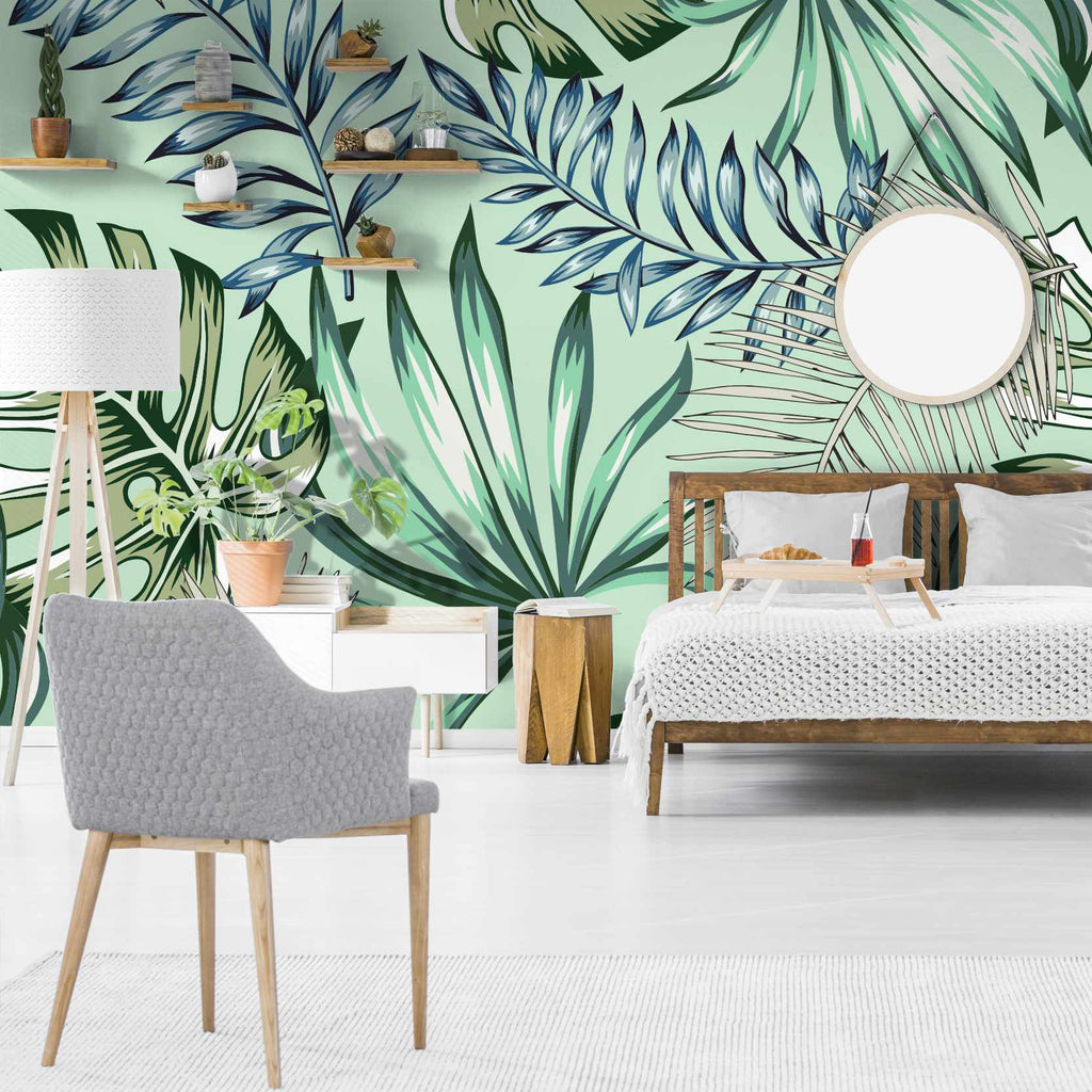 Matrans wallpaper mural in a bedroom | WallpaperMural.com