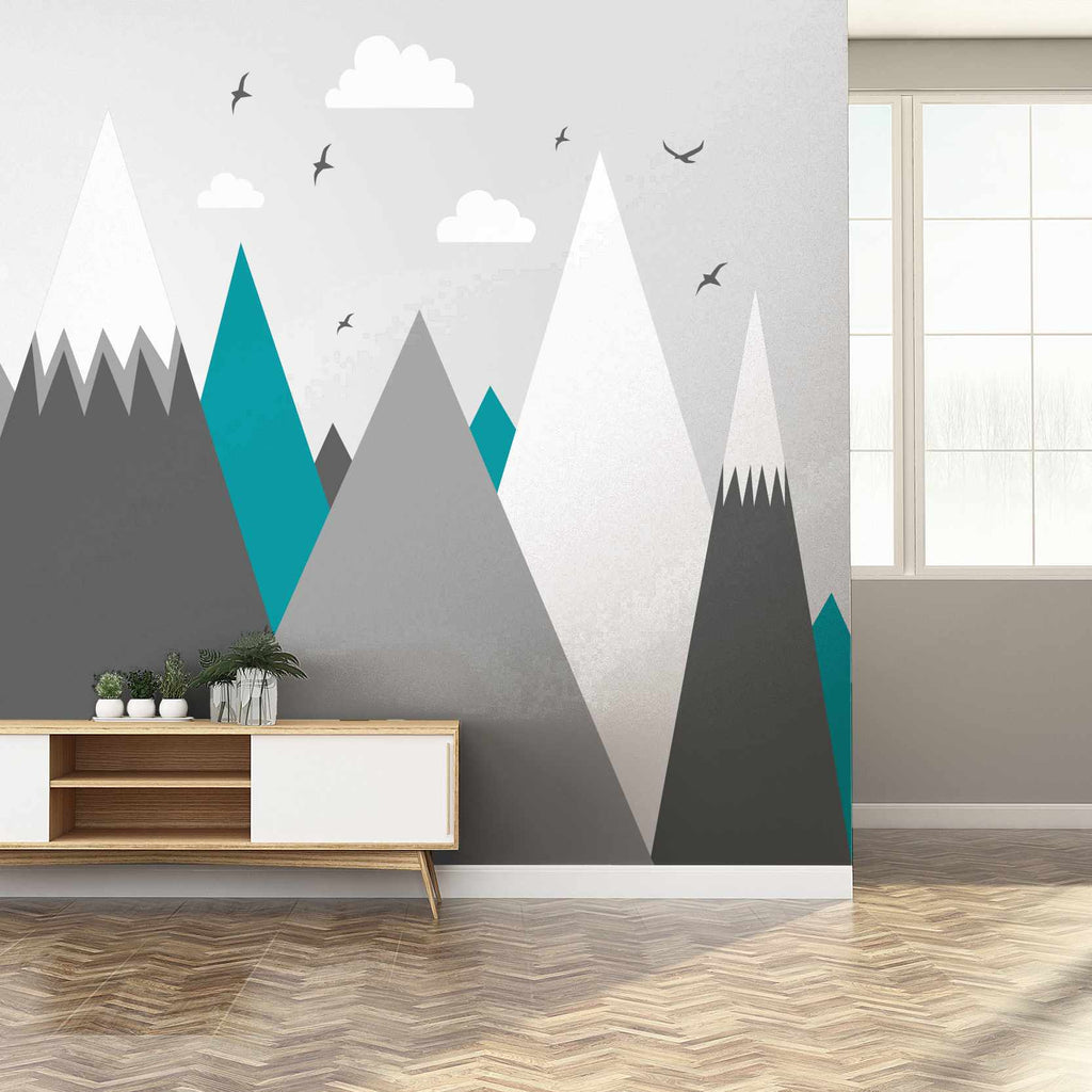 Neuttly wallpaper mural in a hallway | WallpaperMural.com