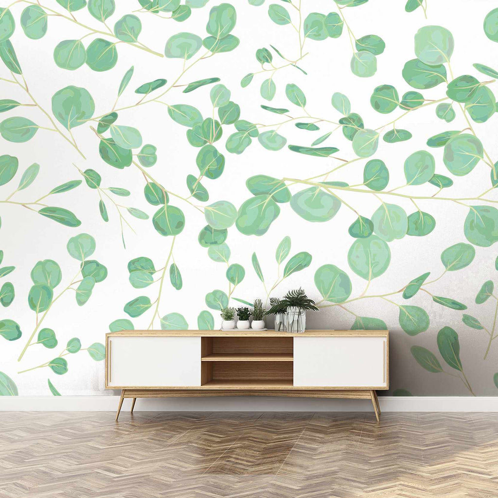 Socircons wallpaper mural in a hallway | WallpaperMural.com