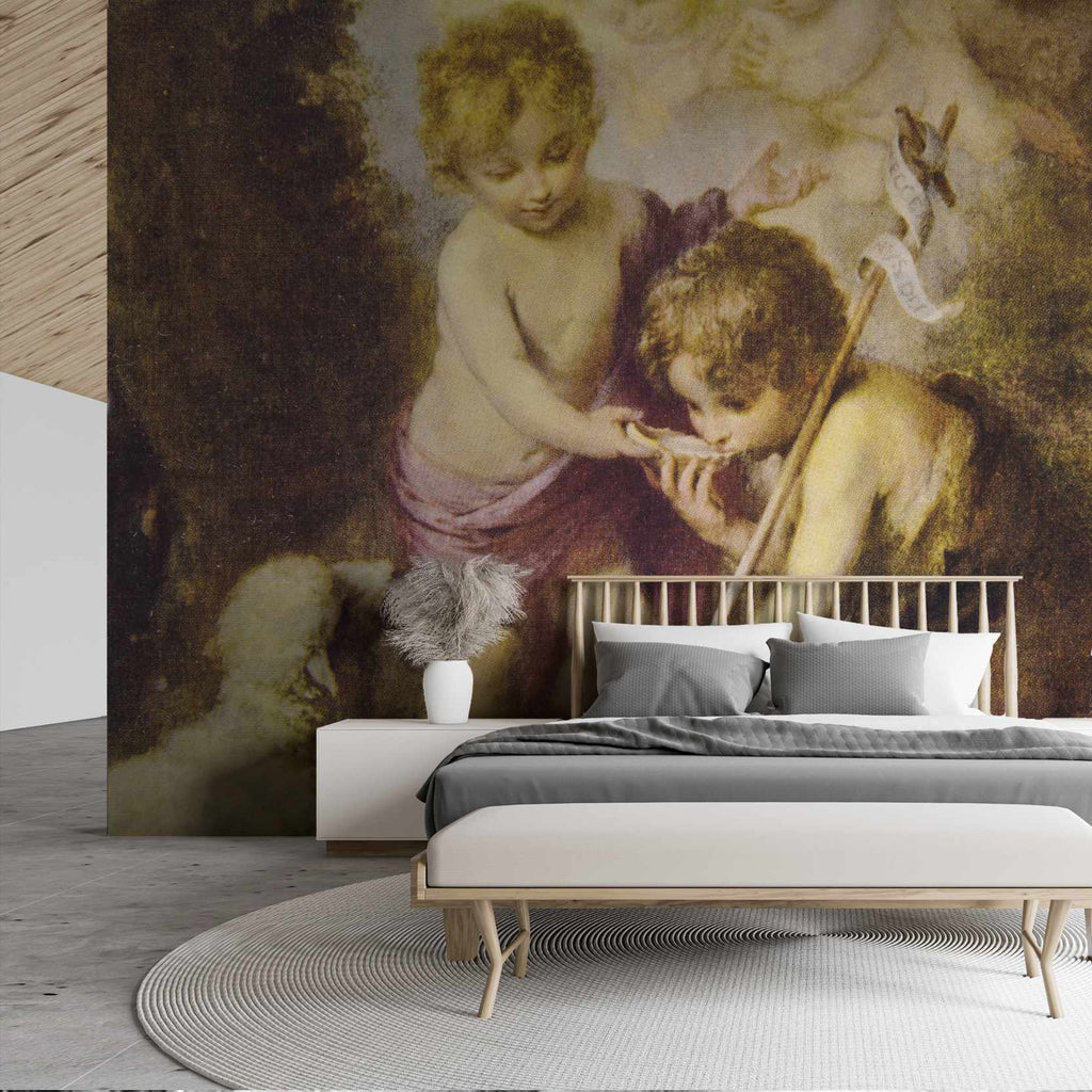 Whiste wallpaper mural in a bedroom | WallpaperMural.com