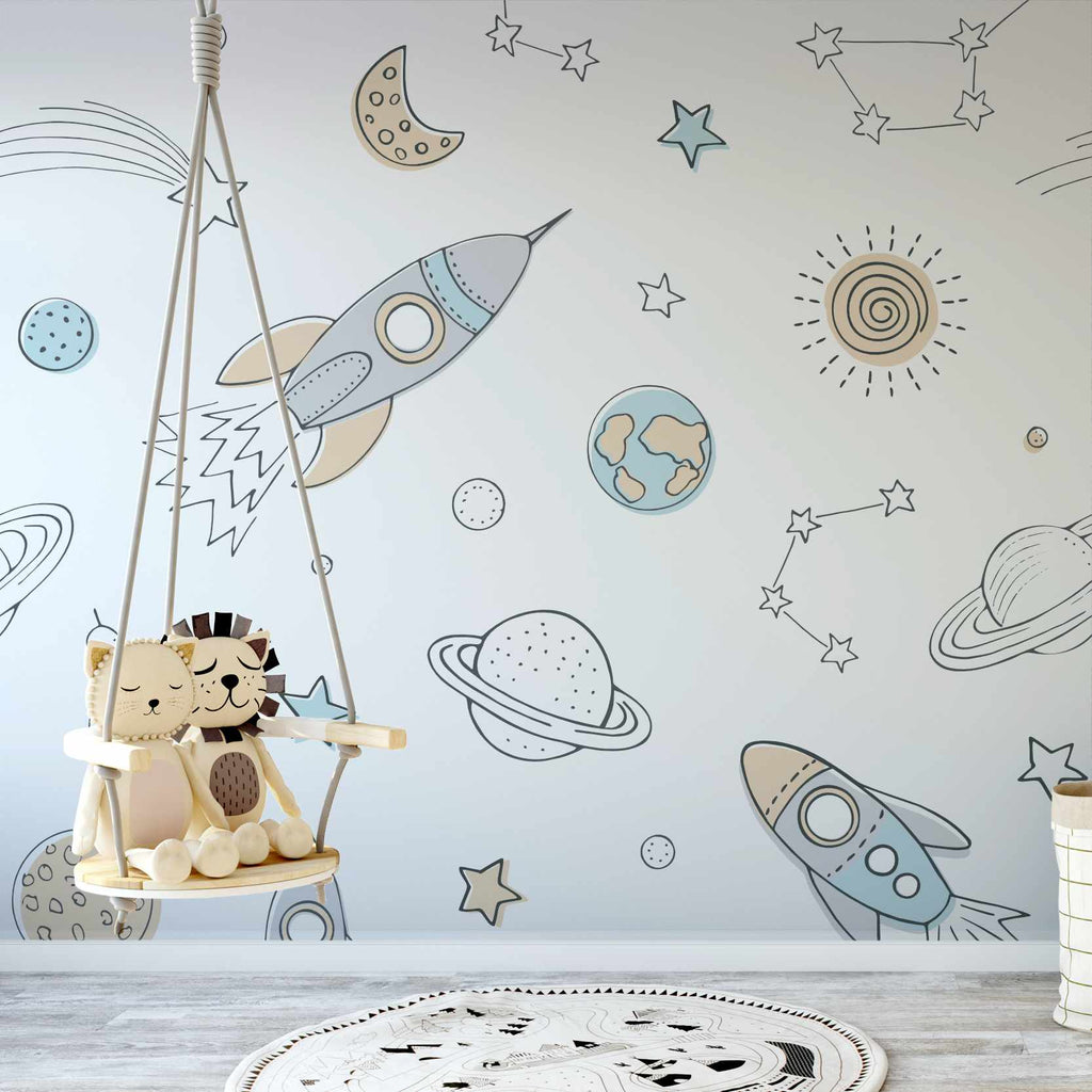 Wrigure wallpaper mural in a nursery | WallpaperMural.com