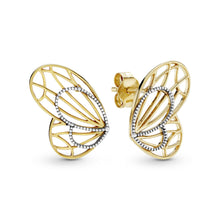 Load image into Gallery viewer, Openwork Butterfly Wing Stud earrings