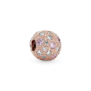 Pink Beaded Texture Clip Charm