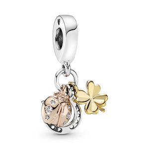 Horseshoe, Clover & Ladybird Dangle Charm