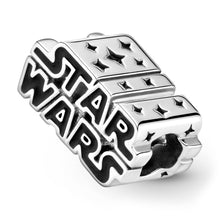 Load image into Gallery viewer, Star Wars Silver 3D Logo Charm