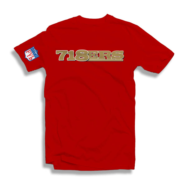 718ERS T-SHIRT (BLACK OR RED)