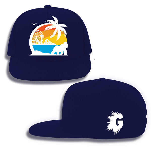 CONEY ISLAND SUMMER SNAPBACK (NAVY BLUE)