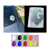 G LOGO CAR DECAL (MULTIPLE COLORS)