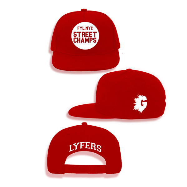 LYFERS STREET CHAMPS RED SNAPBACK