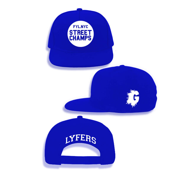 LYFERS STREET CHAMPS ROYAL BLUE SNAPBACK
