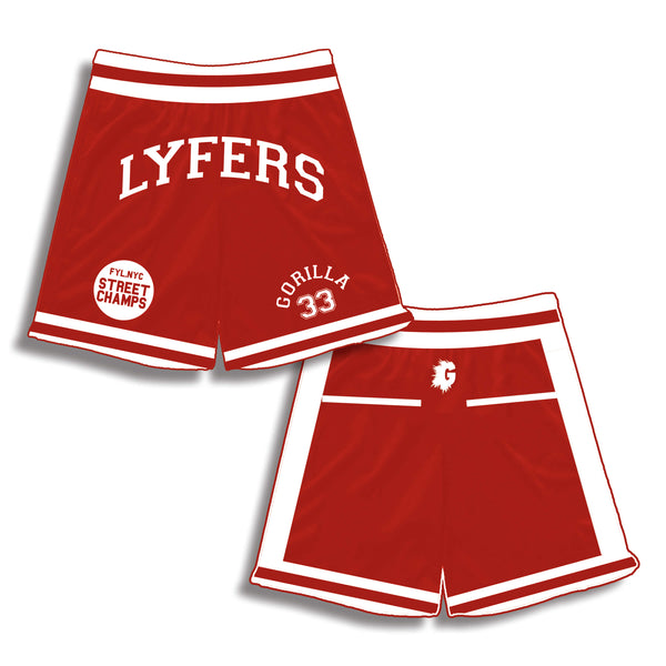 RED LYFERS HIGHSCHOOL BASKETBALL SHORTS (LIMITED)