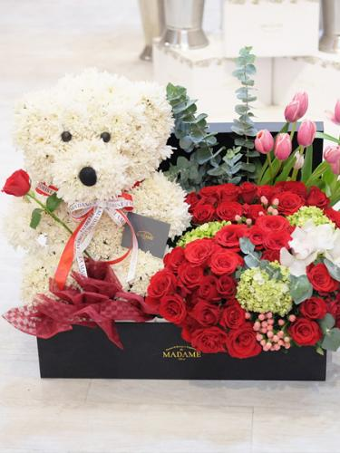 Romantic Eternal Love Blooming Bear