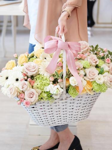 Magical Garden Floral Basket