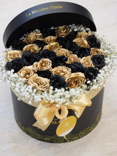 Exquisite Black Gold Delight Blossom Box
