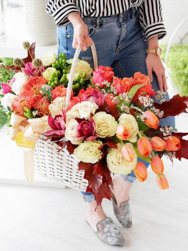 Autumn Daydreams Floral Basket