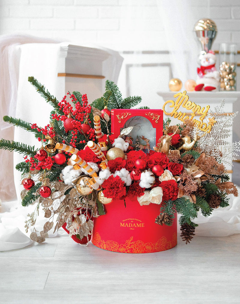 Holly Jolly Christmas Blossom Box