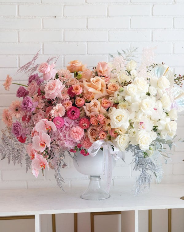 Peach Summer Blossom Luxury Vase