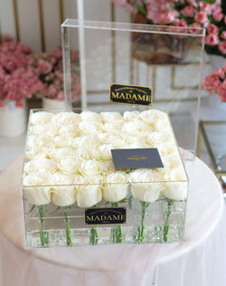 Acrylic Blossom Box in White