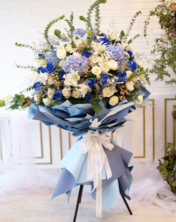 Majestic Blue Standing Bouquet