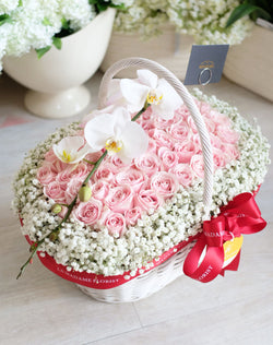 Pure Sweetest Stawberry Floral Basket