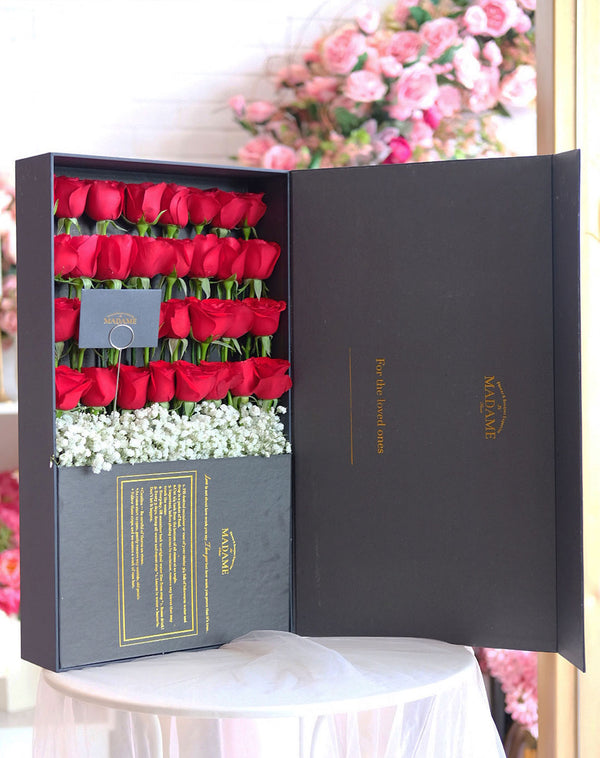Romantic Red Timeless Blossom Box