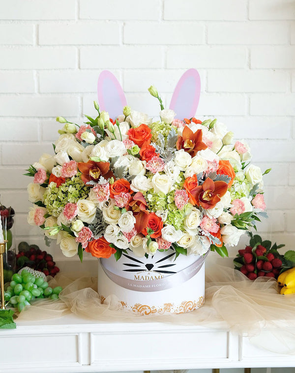 Orange Bunny Blossom Box