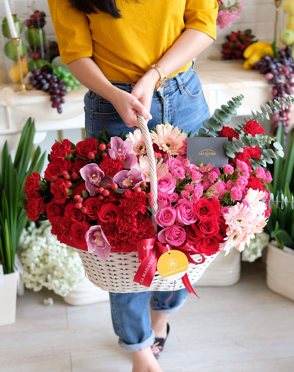 The Jodie Floral Basket