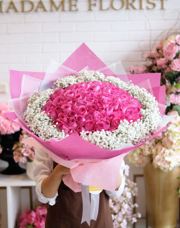 100 Roses of Sugar Blush