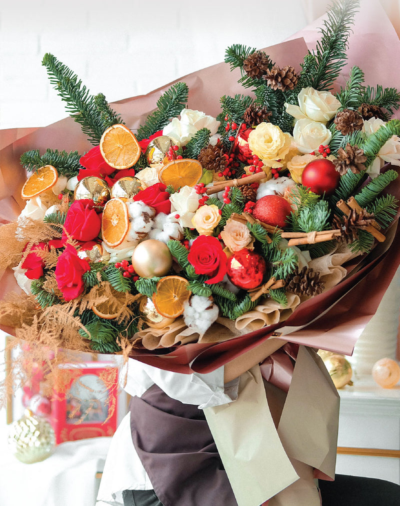 Sweet Orange Christmas Bouquet