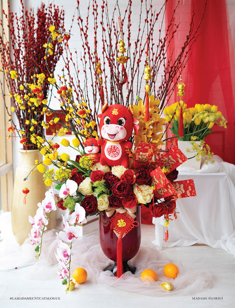 Lunar New Year Artificial CNY Vase