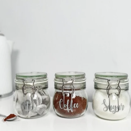 Shabby2Chic Boutique set of 3 glass storage cannisters