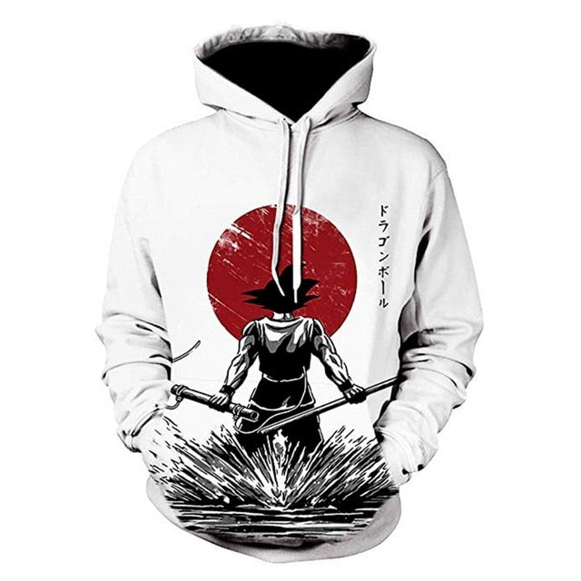 PLstar Cosmos 2019 New Fashion Sweatshirt Anime Dragon Ball Z Kid Goku and Master Roshi 3d Print Men Women Crewneck Pullover
