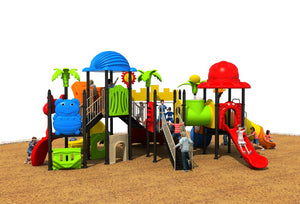 European Standard children outdoor plastic playground park phisical equipment kids paradise facility YLW-OUT171064