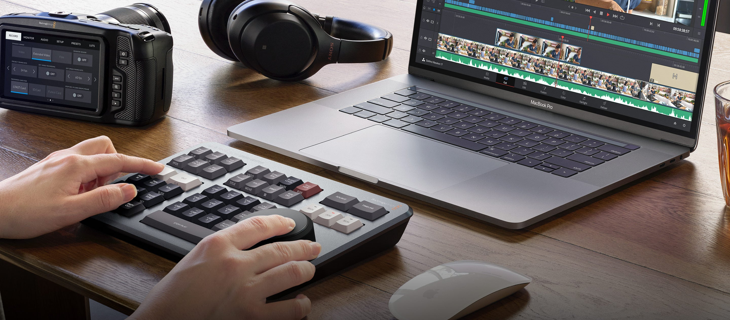 Blackmagic DaVinci Resolve keyboard