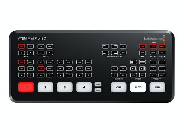 Blackmagic Design ATEM Mini Pro ISO Live Stream Switcher