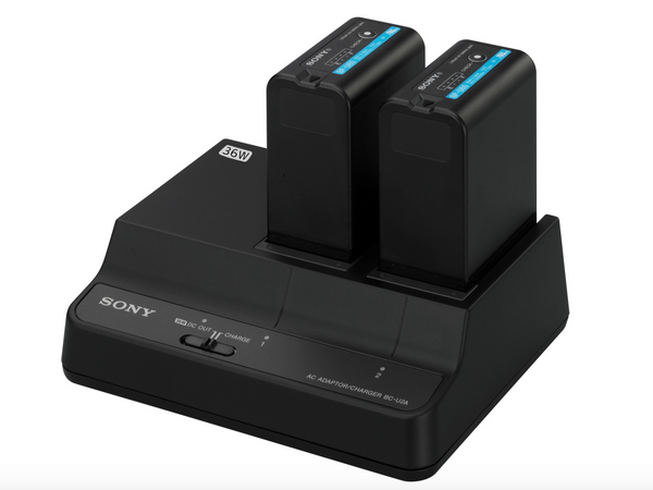 Dual battery charger/AC adapter Sony BC-U2A