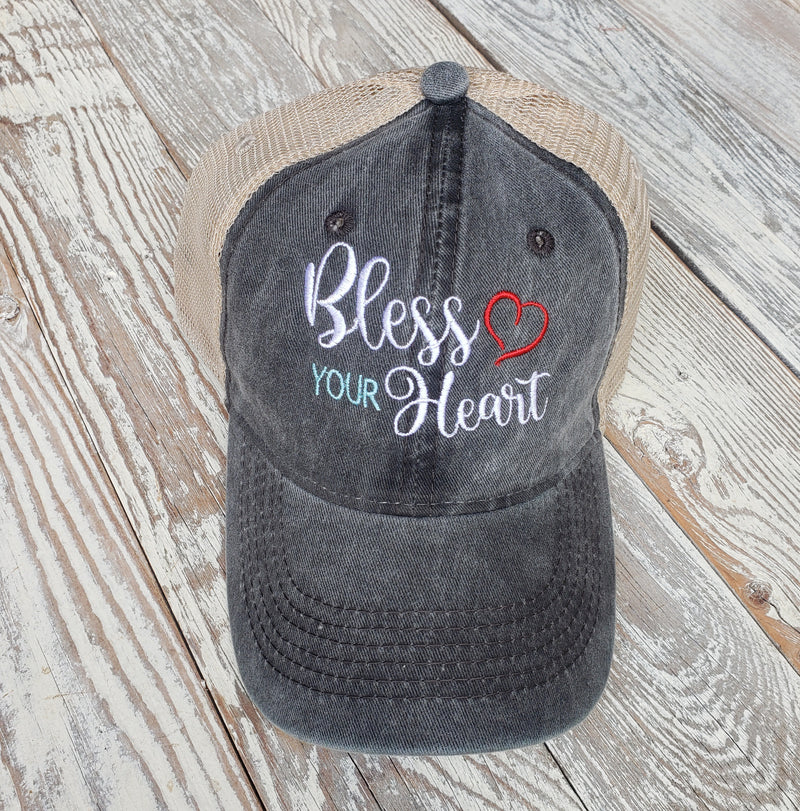 Bless Your Heart EmbroideredTrucker Hat