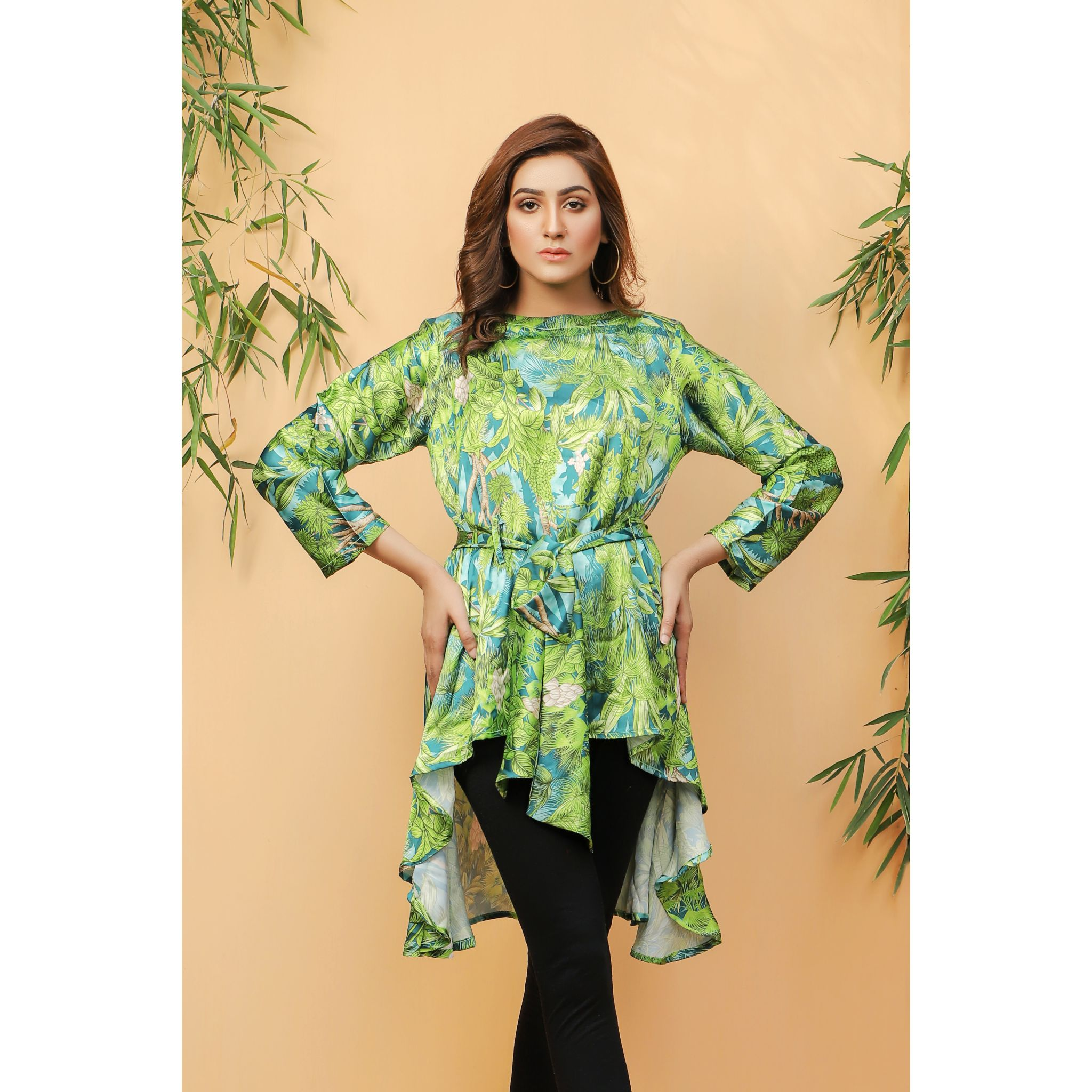 Super Fine 3D Tropical Silk Shirt For Women (CC-113)