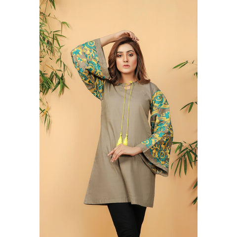 Full Embroidered Sleeve Women  Shirt (CC-135)
