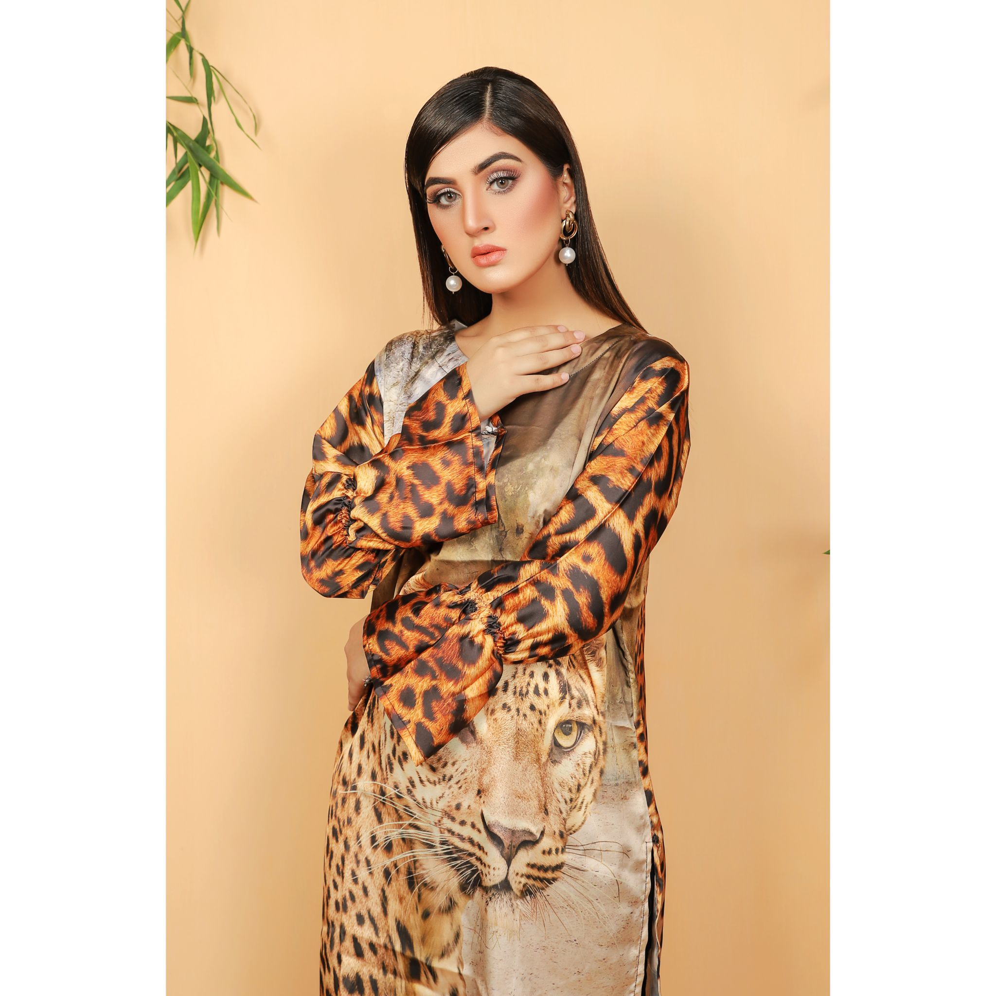 Super Fine 3D Silk Cheetah Shirt For Women (CC-116)