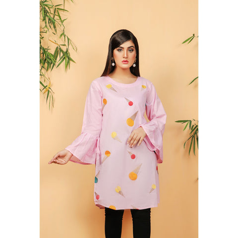 Cool Trendy Full Embroidered Ice Cream Multi Shirt (CC-123)