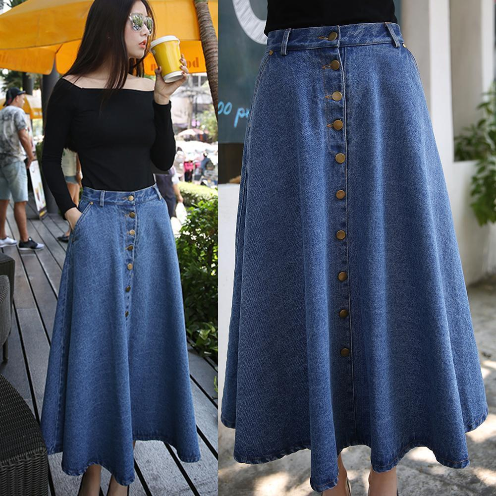Heigh Waist Denim Skirt - Chilgozay Clothing