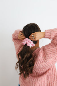 COTTON CANDY OVERSIZED SCRUNCHIES ( 5 COLORS )