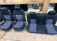 Load image into Gallery viewer, MK4 Cloth Seats - Black with Grey Inlay