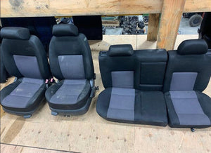 MK4 Cloth Seats - Black with Grey Inlay