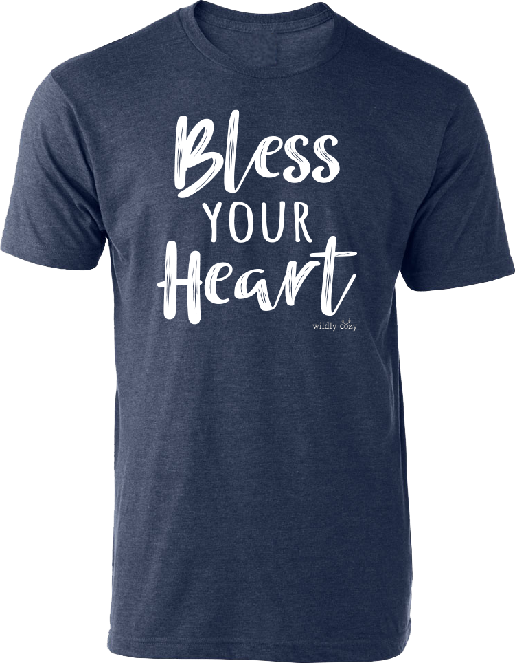 Bless Your Heart Tee Heather Denim