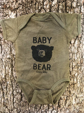 Load image into Gallery viewer, Baby Bear Bodysuit Heather Military Green