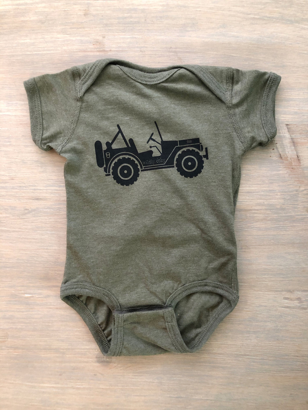 4x4 Life Bodysuit Heather Military Green