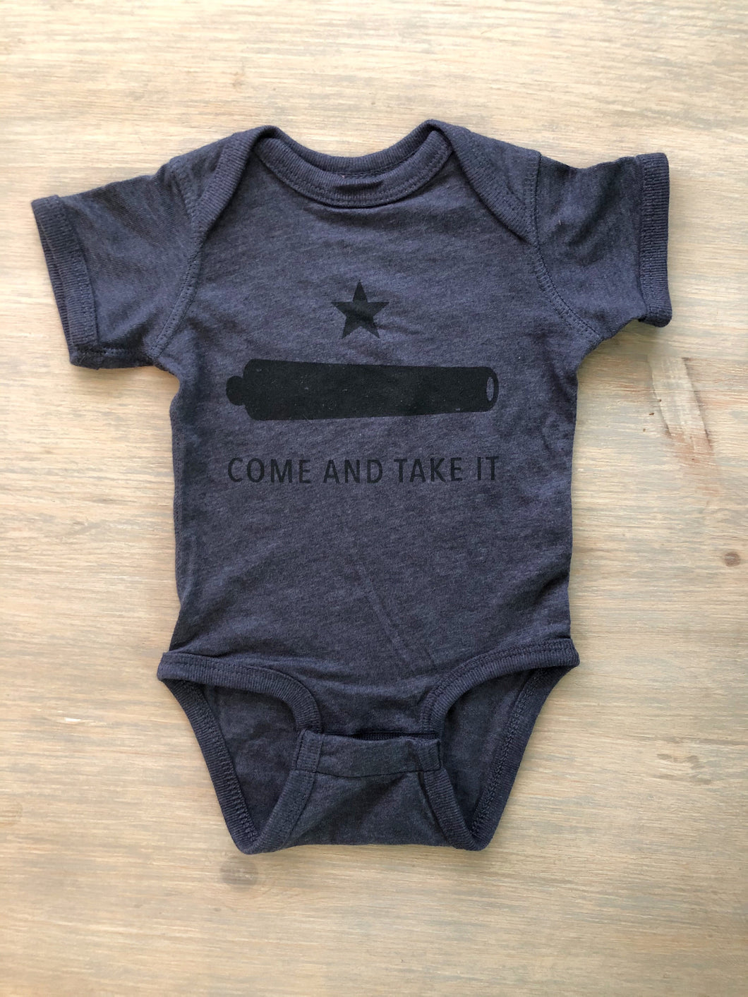 Come & Take It Bodysuit Heather Navy