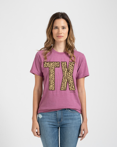 Leopard TX Tee Heather Cassis